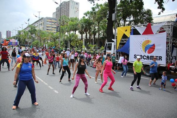 Patriotas tomaron avenida Bolívar con deporte y cultura en apoyo a la Constituyente