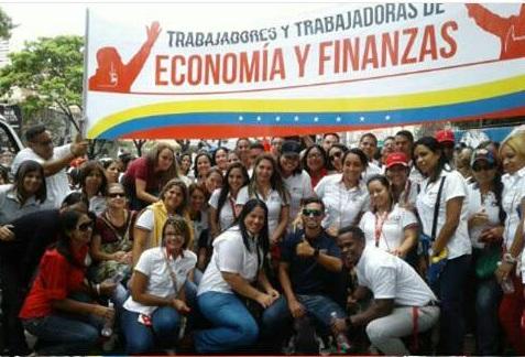 Trabajadores de Economía y Finanzas apoyan la Constituyente
